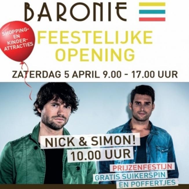 5 april feestelijke opening winkelcentrum De Baronie